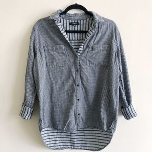 Madewell Gingham Button Down Top